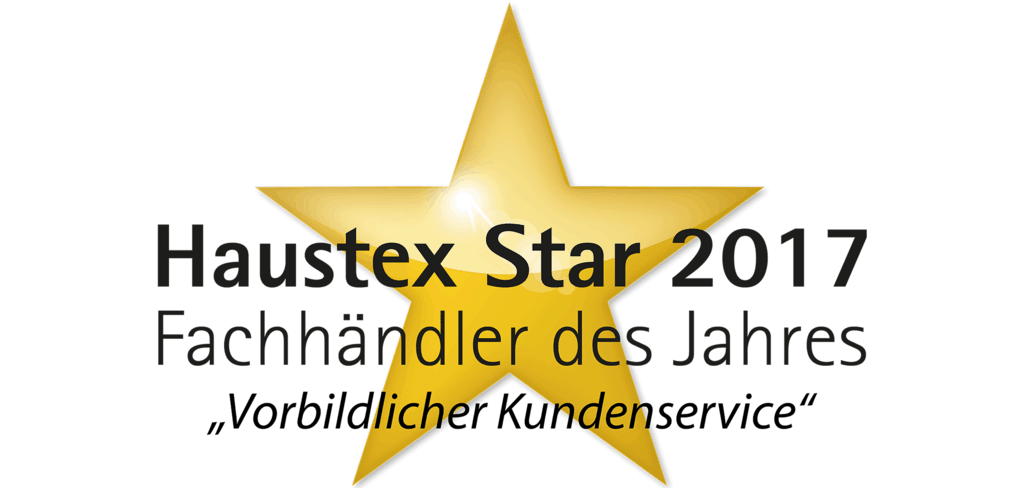 Haustexstar 2017 Vorbildlicher Kundenservice